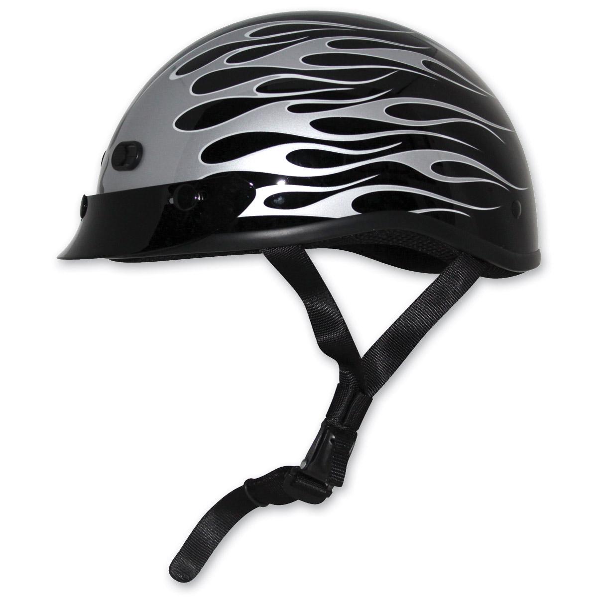 Zox Mikro Custom Gloss Black Half Helmet - Z88-00663 ...