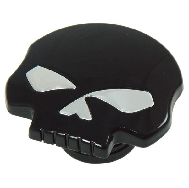 J&P Cycles® Black Skull Gas Cap