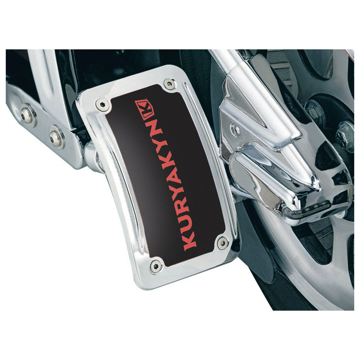 Kuryakyn Curved Vertical Side Mount License Plate Holder