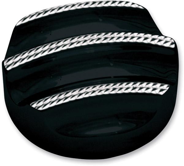 Covingtons Customs Black Diamond Finned Engine Oil Dipstick Cover