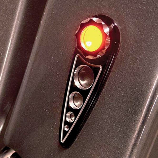 Battistinis Amber LED with Clear Lens Black Rear Turn Signals