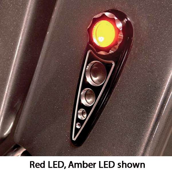 Battistinis Red LED with Clear Lens Black Rear Turn Signals