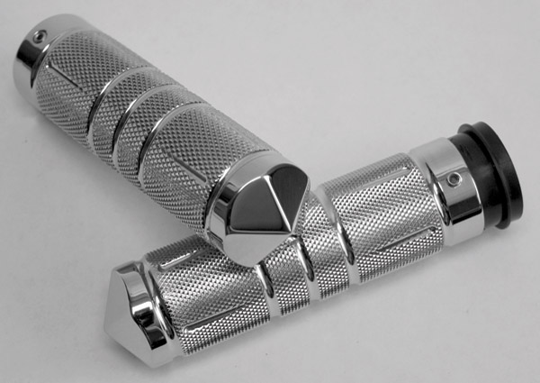 Accutronix TBW Chrome Diamond Knurled Grips