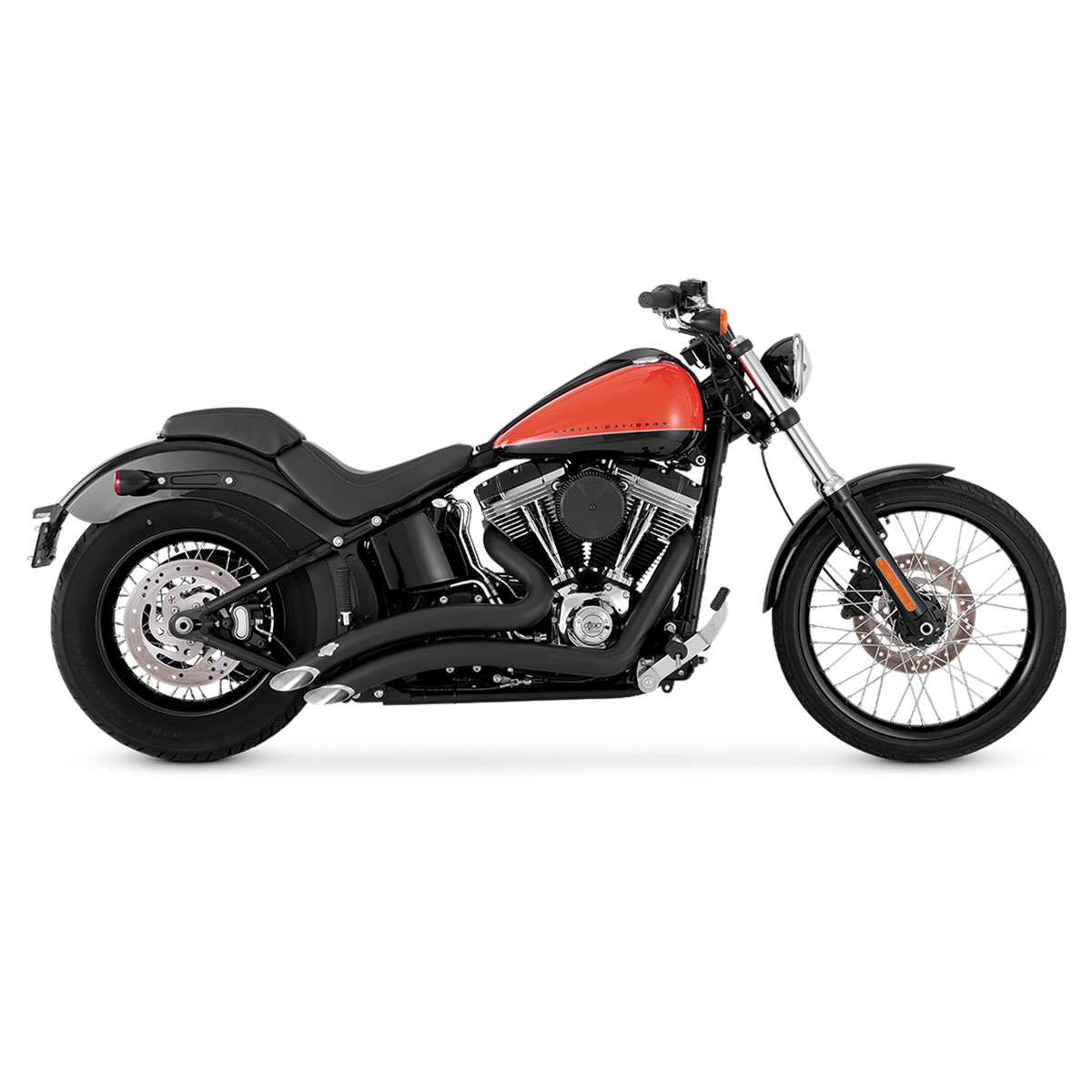 Vance & Hines Big Radius 2-into-2 Black Exhaust System
