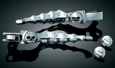Kuryakyn Zombie Lever Set for FLHT, FLTR, FLHX, FLHR and Trike Models Equipped with Cable Clutch