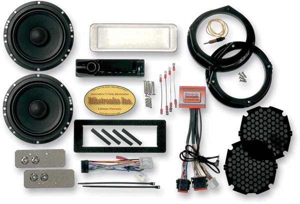Biketronics Titan II Turnkey Sony CDX  Radio 2-Speaker Kit