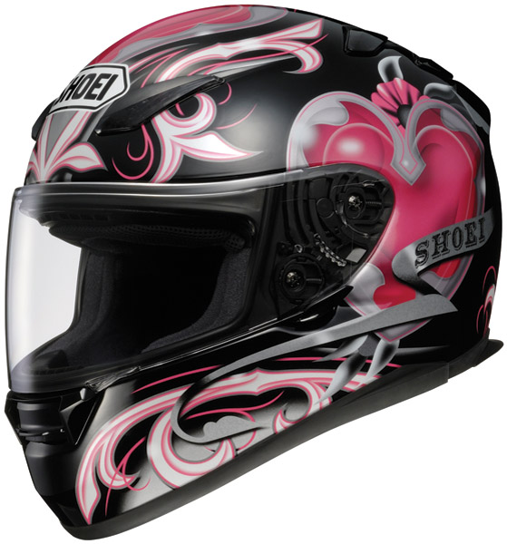 Shoei RF-1100 Corazon Black and Pink Full Face Helmet