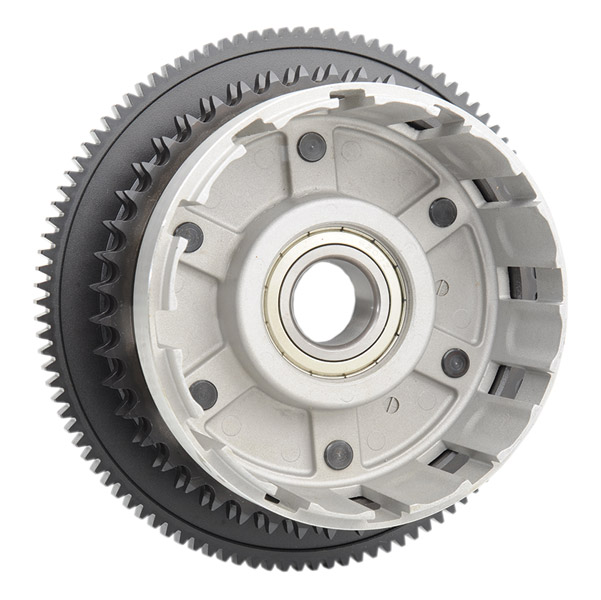 clutch drum with sprocket and bearing | 542-655 | j&p cycles