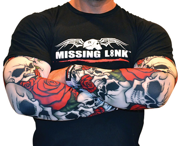Missing Link Bones and Roses ArmPro Sleeves