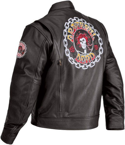 River Road Grateful Dead Color Logo Leather Jacket