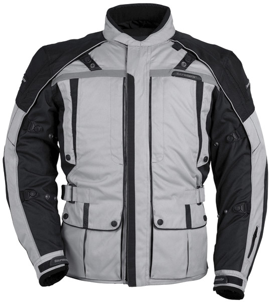Tour Master Men's Silver and Black Transition Series 3 Jacket