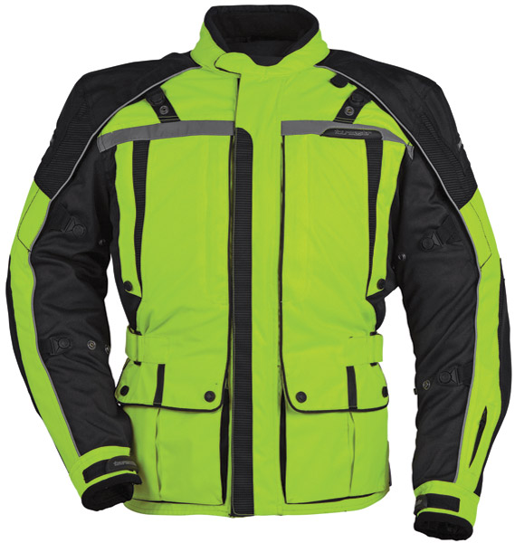 Tour Master Women's Hi-Vis Yellow and Black Transition Series 3 Jacket