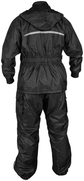 River Road Black Tempest 2-Piece Rainsuit