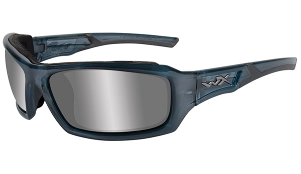 Wiley X Echo Smoke Steel Blue Frame Sunglasses