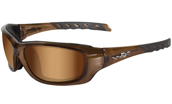 Wiley X Gravity Bronze Flash Frame Sunglasses
