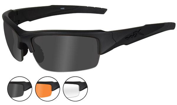 Wiley X Valor Matte Black Frame Changeable Sunglasses