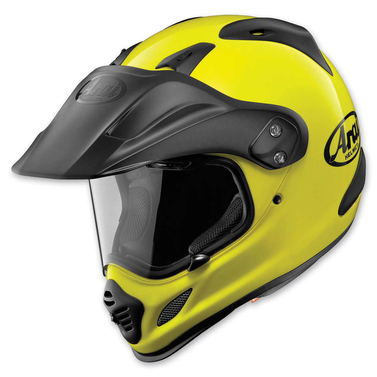 Arai XD4 Fluorescent Yellow Dual Sport Helmet