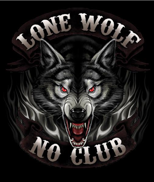 hot leathers black lone wolf biker t-shirt | 545-020 | j&p cycles