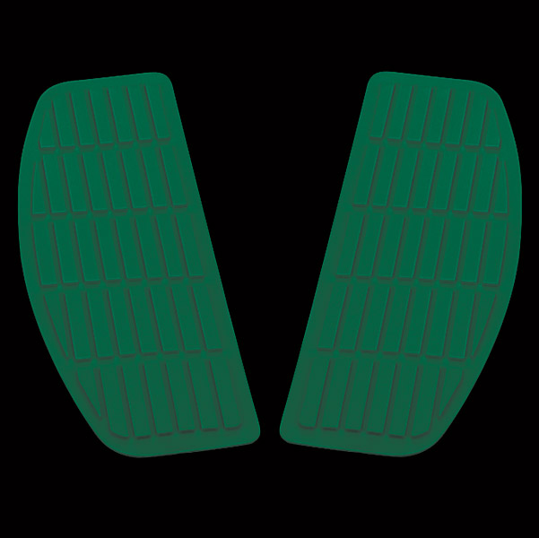 Jammer Green Rectangular Floor Mats