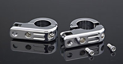 J&P Cycles® Footpeg Mounts for 1-1/2″ Highway Bars