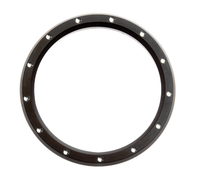 2″ Black and Chrome Dimple Billet Custom Gauge Bezels