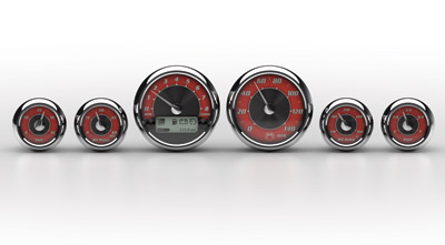 Medallion Instrumentation Systems Tradition Gauge Set for Touring Models