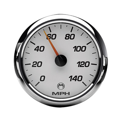 Medallion Instrumentation Systems Racing White Gauge Set for Touring Models
