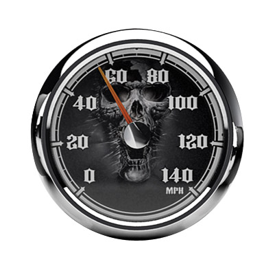 Medallion Instrumentation Systems Skulls Gauge Set for Touring Models