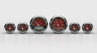 Medallion Instrumentation Systems Classic Premium Gauges for Touring Models