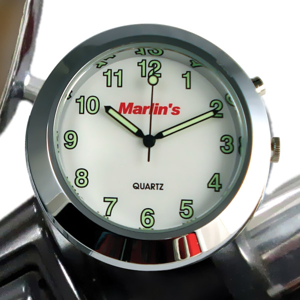 Marlin's CHAMP Series Backlit White Clock