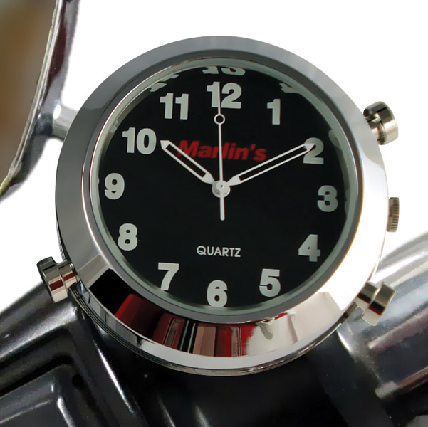Marlin's CHAMP Series Backlit Black Clock