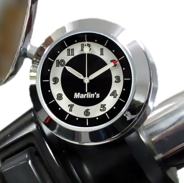 Marlin's CHAMP Series Retro Black and White Analog Clock