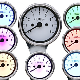 J&P Cycles® Seven-Color Tachometer