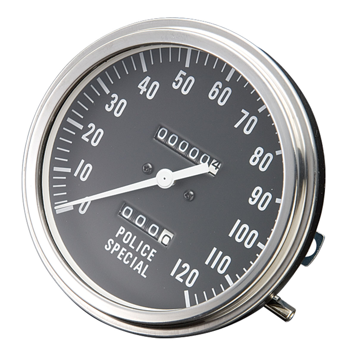 J&P Cycles FL-Style Police Face Speedometer