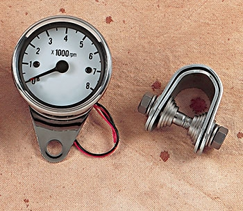 J&P Cycles® White Face Mechanical Tachometer