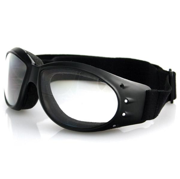Bobster Cruiser Goggles, Black Frame, Anti-fog Clear Lens