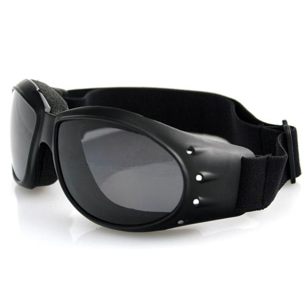 Bobster Cruiser Goggles, Black Frame, Anti-Fog Smoked Reflective Len