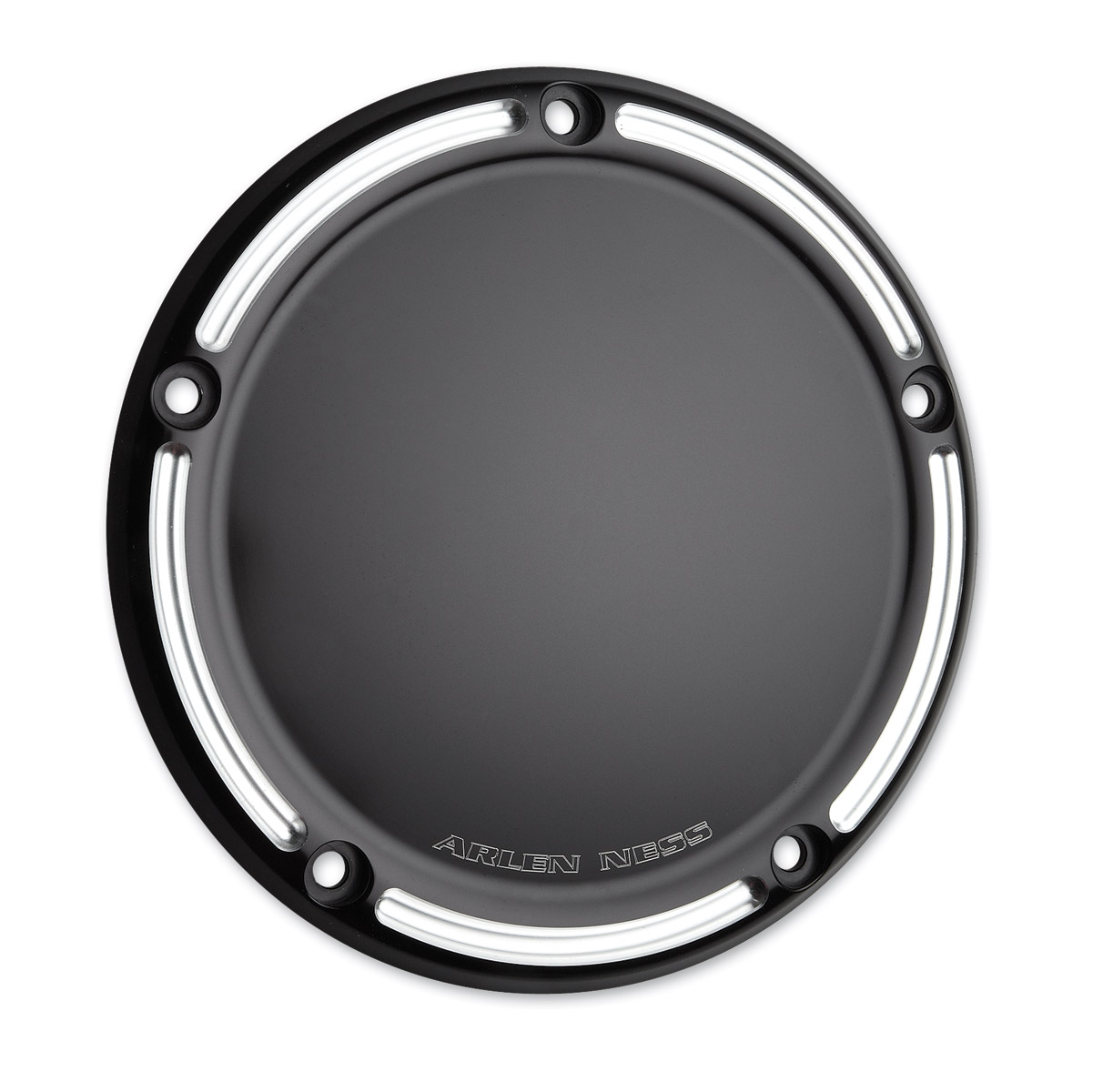 Arlen Ness 03-493 Black Slot Track Derby Cover For Harley