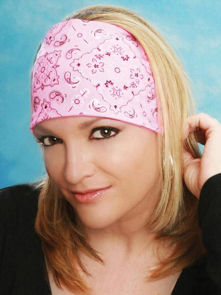 That's A Wrap Foil Bandana Hot Pink Knotty Band