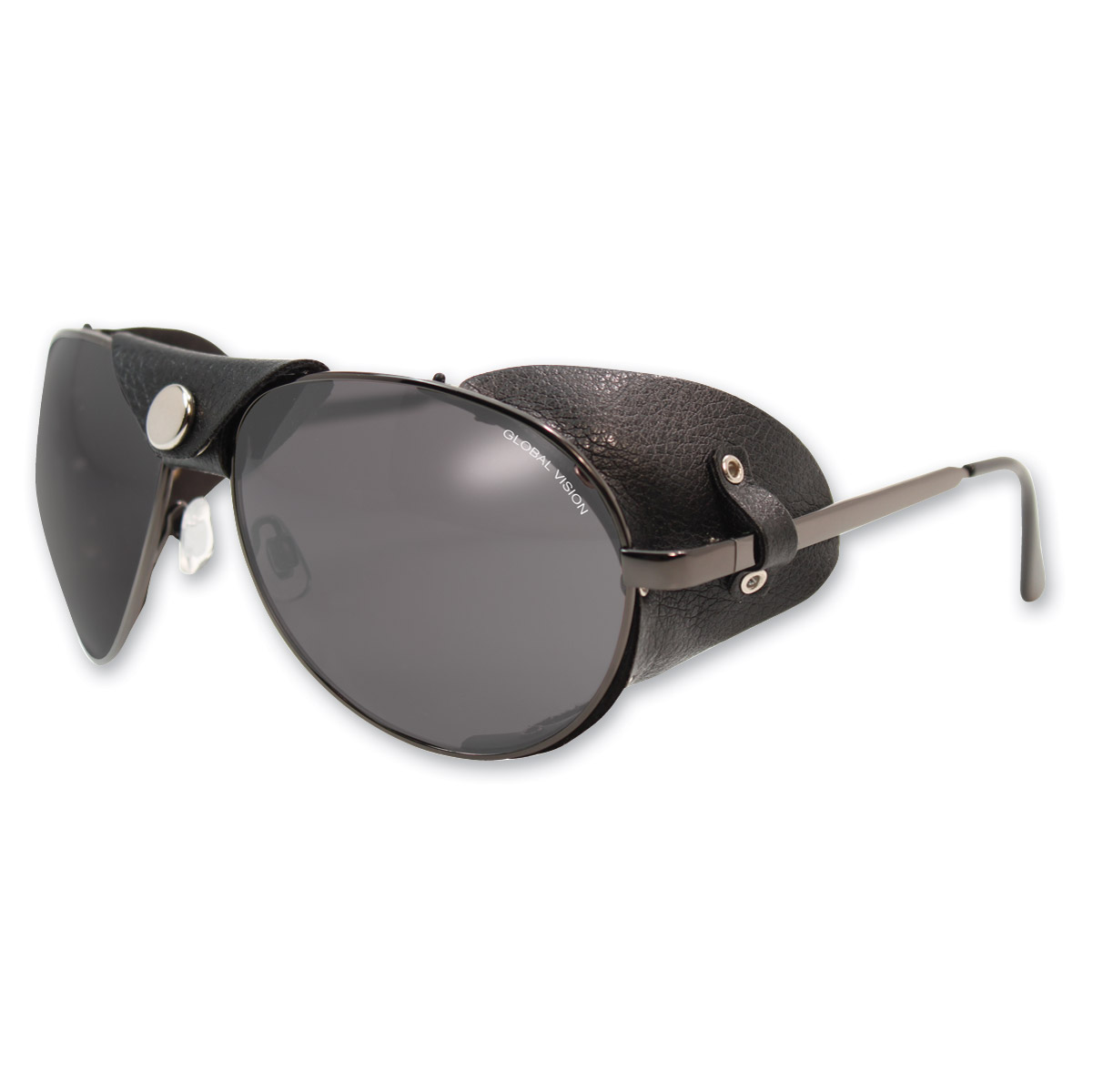 Global Vision Eyewear Shiny Gunmetal Smoke Lens