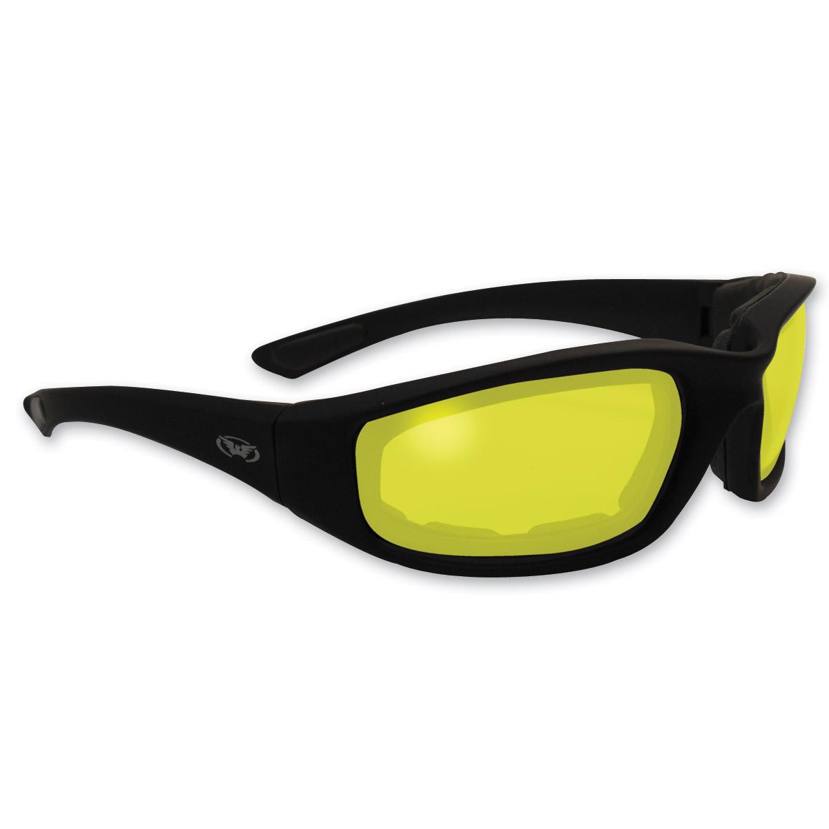 Global Vision Eyewear Kickback Yellow Lens Photochromic Sunglasses