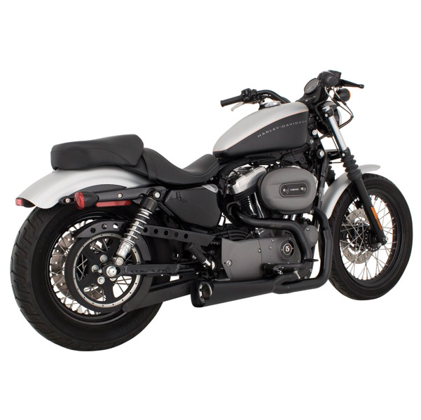 Vance & Hines Competition Series 2-into-1 Exhaust, Matte Black