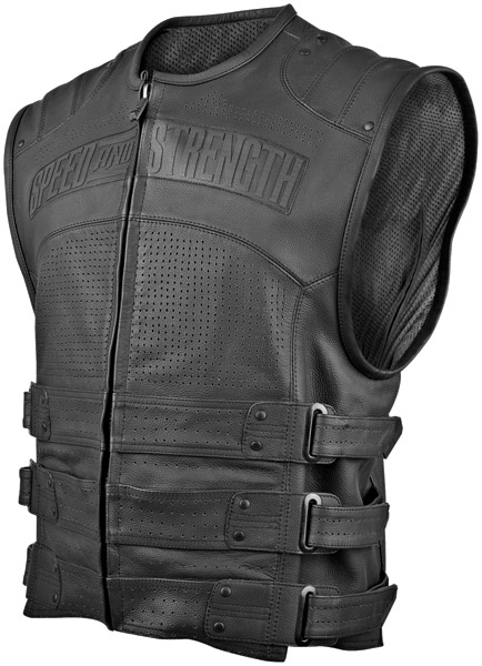 Speed and Strength Hard Knock Life Leather Vest