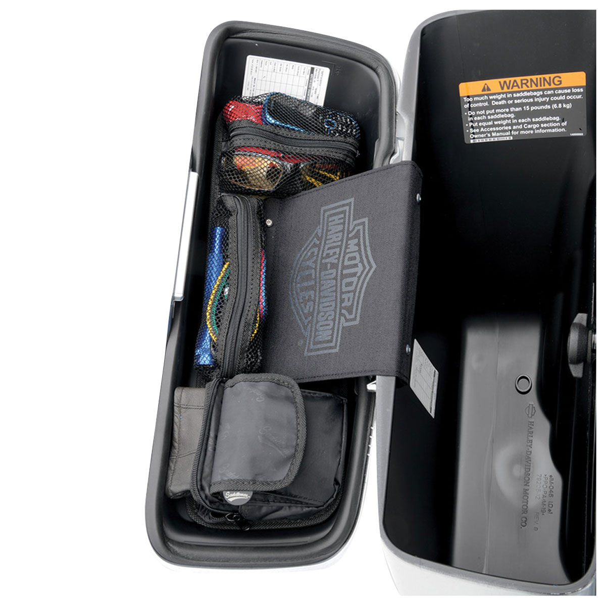 Saddlemen Lid Organizer Set for Dyna Switchback