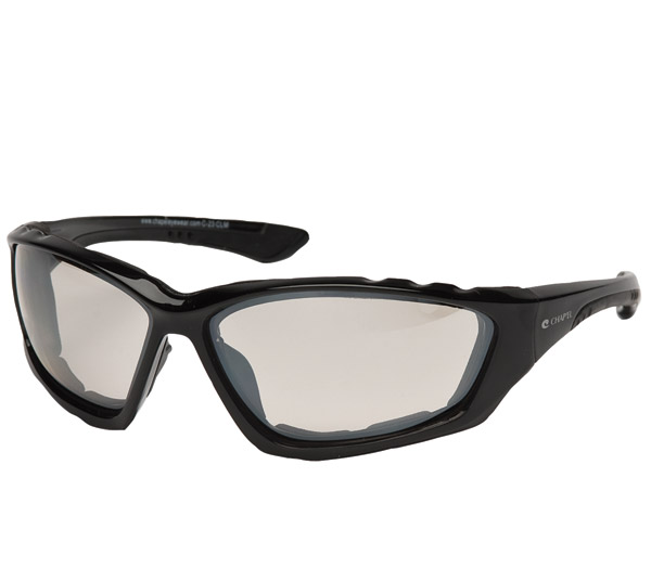 Chap'el Padded Black Frame with Clear Mirror Lens
