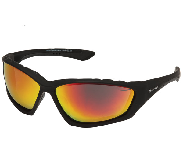 Chap'el Padded Black Frame with Red RV Lens
