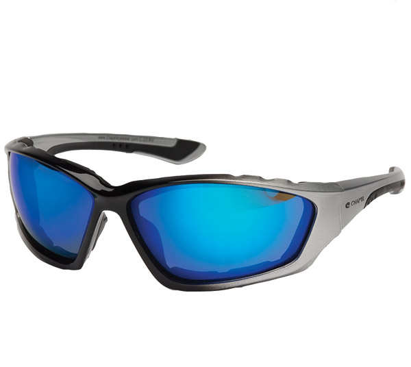 Chap'el Padded Silver Frame with Blue RV Lens