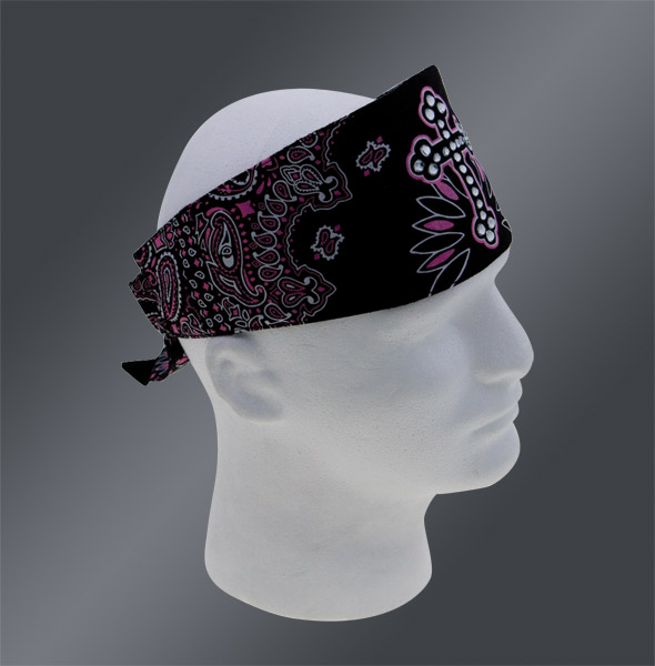 Chop Top Black/Pink Cross Paisley Doo Wrap