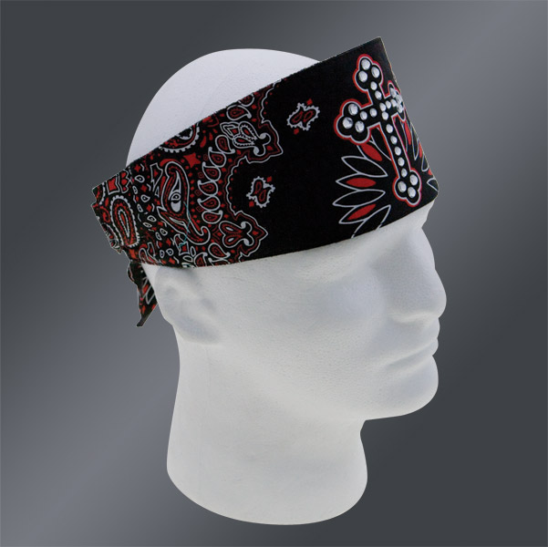 Chop Top Black/Red Cross Paisley Doo Wrap