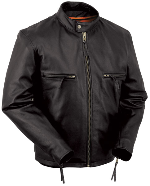 First Manufacturing Co. Men's Leather Conceal Carry Jacket with Removable Hoodie